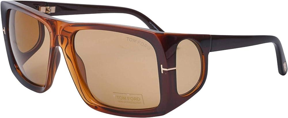 Tom ford rizzo , occhiali da sole per uomo FT0730 48E