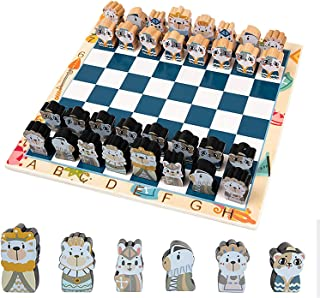 Chess Set Wooden Chess, International Chess Game Include Chess Board Complete and 32 Chess Pieces, Tactical Strategy Game ...