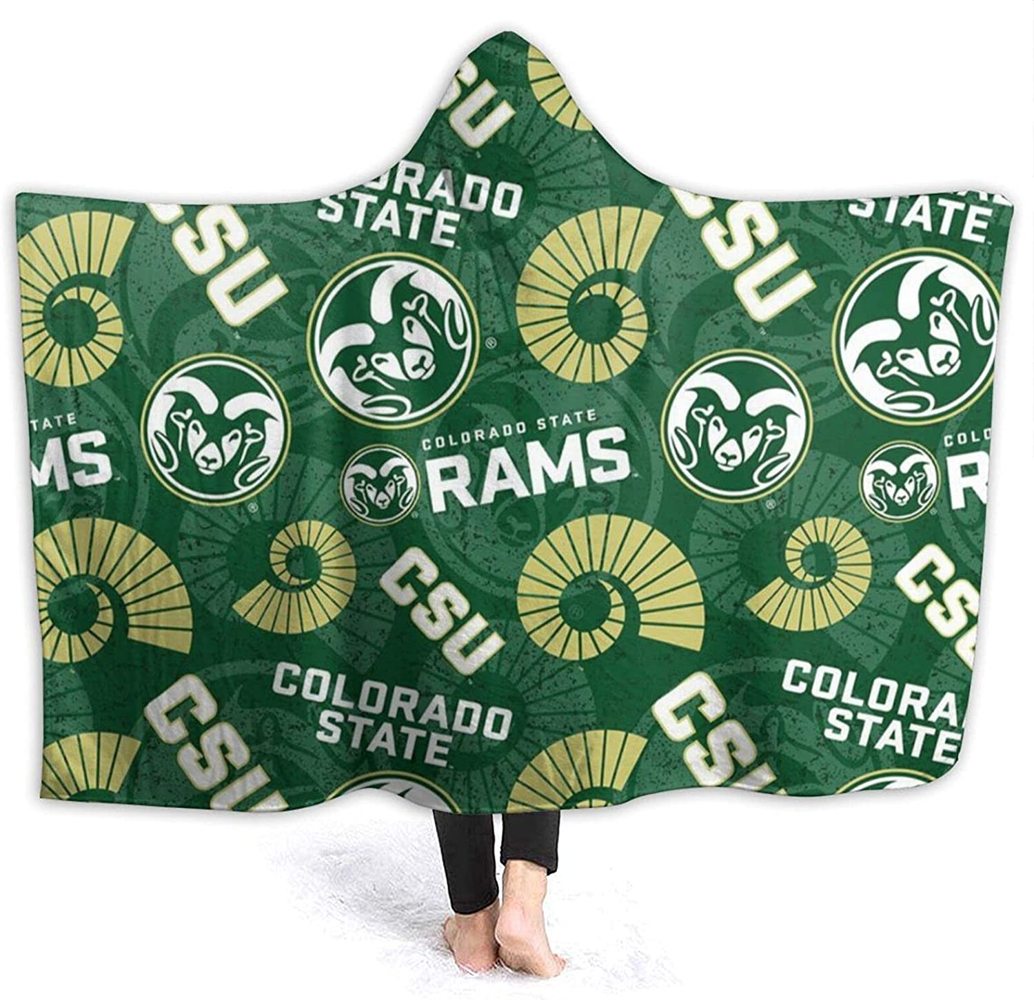 Colorado State University Hooded Flannel San Diego Mall We Anti-Pilling New item Blanket