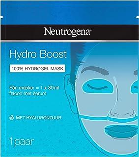 Neutrogena Hydro Boost Gel Masker, tweedelig gelmasker, hydraterende formule met hyaluronzuur, 100% serum, 30 ml