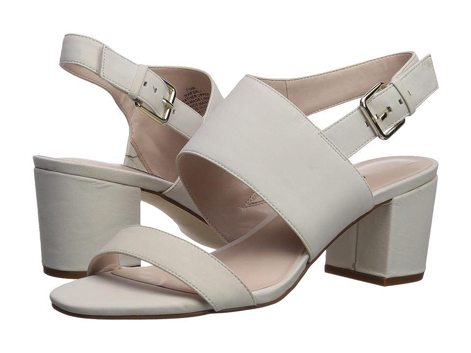 Nine West Forli Block Heel Sandal (Off-White Nubuck) Women