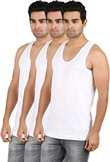 RVB Fashions Men's Cotton Vest Sleeveless (Pack of 3)