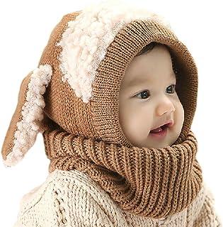 YSense Baby Girls Boys Winter Warm Hat Scarf Earflap Hood Scarves Skull Caps