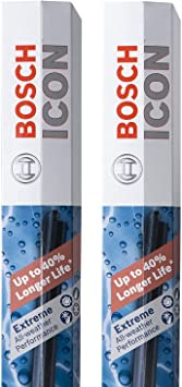 Bosch ICON Wiper Blades 26A17A (Set of 2) Fits Acura: 19-16 TLX, Honda: 17-18 CR-V, Nissan: 08-00 Maxima, 14-19 Rogue, Toyata: 12-09 Matrix+More, Up to 40% Longer Life, Frustration Free Packaging: image