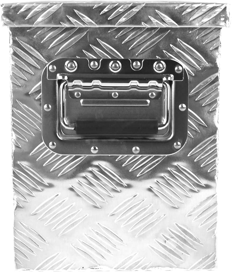 Silver POINSETTIA Aluminum Tool Box Trailer Storage for Truck 76x33.5x24.5cm