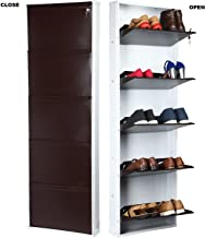 Parasnath White Brown Shoe Den with Bigger in Size/Shoe Rack White/Brown with 5 Shelves/ 5 Layer Shoes Stand Made in India
