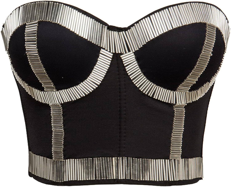 Alivila.Y Fashion Rhinestone Punk Goth Bra Clubwear Bustier