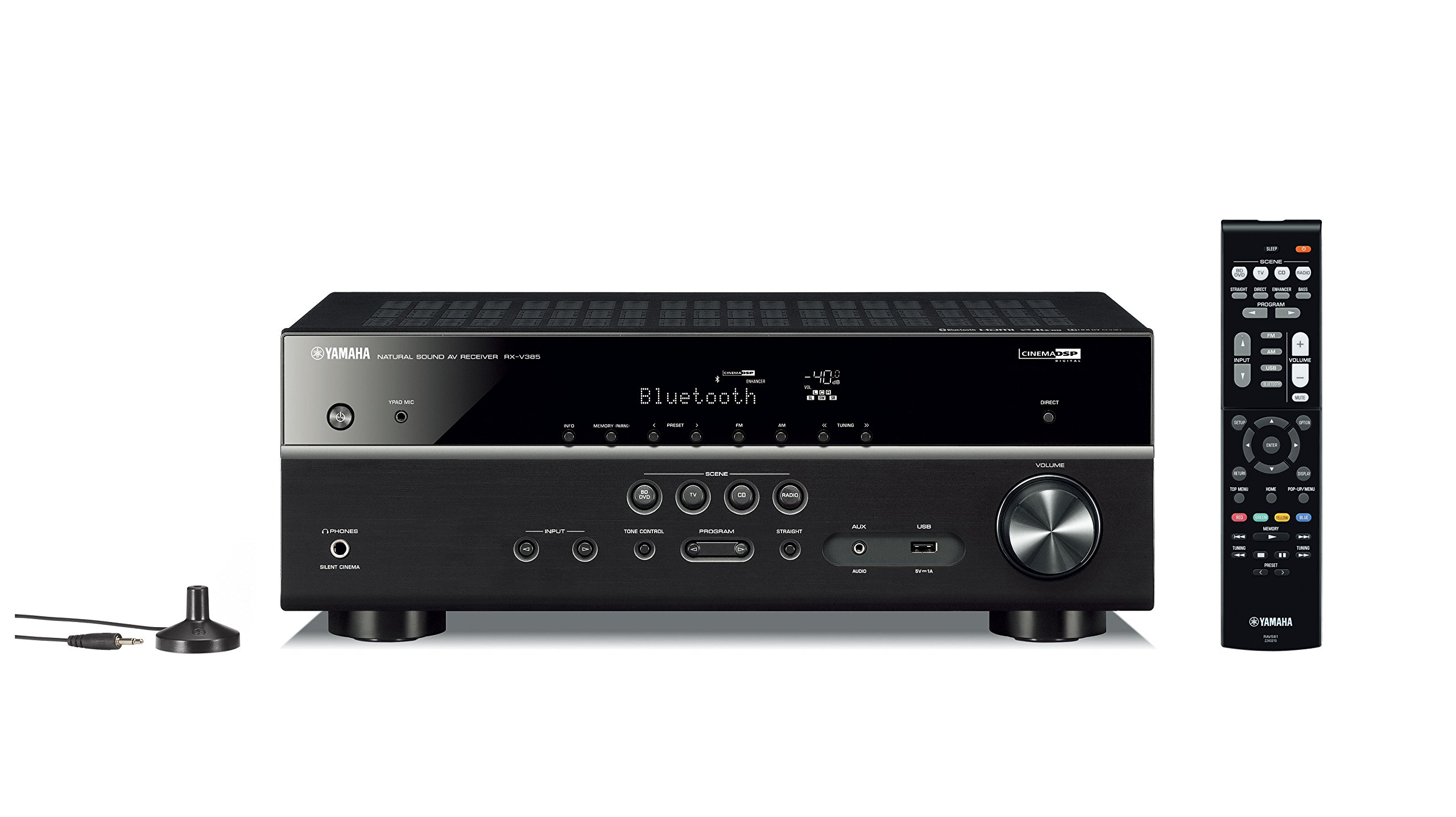 Yamaha RX V385 5 1 Channel Receiver Bluetooth