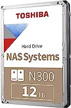 Toshiba HDWG21CXZSTA N300 12TB NAS 3.5-inch Internal Hard Drive - CMR SATA 6 Gb/s 7200 RPM 256 MB Cache