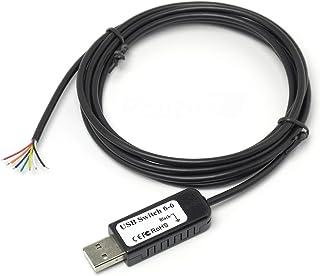 ルートアール 多機能 自作入力装置用USBスイッチケーブル 6スイッチ用 RI-SWCB6