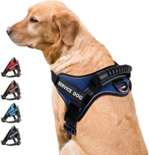 SENYEPETS Pet Harness No-Pull and Chock Free Dog Harness with Sturdy Easy Control Handle Reflective Vest Harness for Small Medium Large Dogs.
