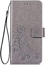 Wuzixi Case for Motorola P40. Anti-Scratch, Flip Case Side suction Kickstand Feature Card Slots Case, PU Leather Folio Cover for Motorola P40.Gray