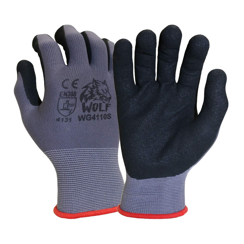 WOLF お気に入 13-gauge Ultra-Thin Nitrile Foam ご予約品 Grip Coated Mul Palm Glove