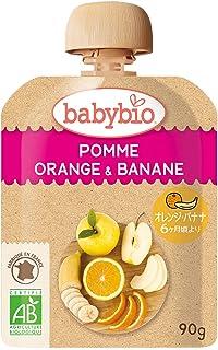 ベビービオ オーガニック ベビースムージー アップル・オレンジ・バナナ 90g×14個 (有機ベビーフード) (有機JAS認証品) (生後6か月~)