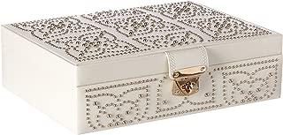WOLF Marrakesh Flat Jewelry Box, Medium, Cream