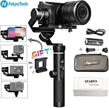 Feiyu G6 Plus 3-Axis Brushless Handheld Gimbal Stabilizer Splash-Proof 800g Payload 12 H Running Time for Smartphone/GoPro/Pocket Camera/Mirrorless Camera Like iPhone Sony a6500 Sony RX100 Canon