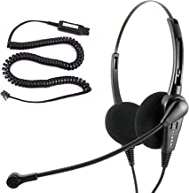 InnoTalk Headset for Avaya 4621 4622 4624 4625 4630 5410 5420 5610 with HIC Quick Disconnect Cord compatible with Plantronics QD, Noise Cancel Desk Phone Binaural headset