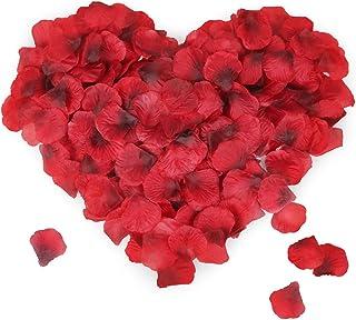 Mitening 3500 Pcs Pétalos de Rosa, Pétalos de Rosa en Seda Artificiales Rojo para Bodas Confeti, Fiestas, Día de San Valentín y Ambiente Romántico (Rojo)