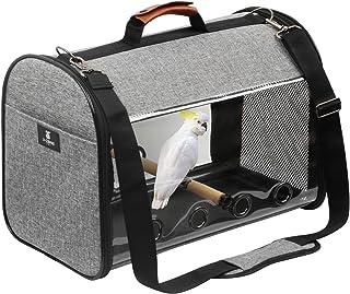 X-ZONE PET Bird Travel Bag Portable Pet Bird Parrot Carrier Transparent Breathable Travel Cage,Lightweight Bird Carrier,Bi...