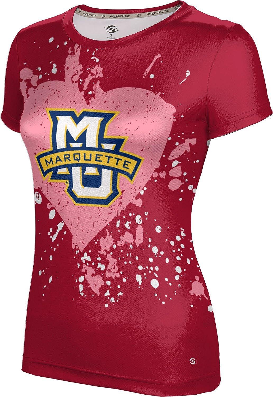ProSphere Marquette University Valentine's Day Girls' Performance T-Shirt (Heart)