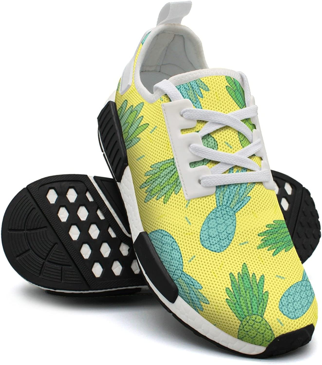 bluee Green Pineapples Doodle Best Running shoes Women Nmd Tennis shoes Gym