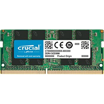 Crucial CT8G4SFS8266 8 GB (DDR4, 2666 MT/s, PC4-21300, Single Rank x8, SODIMM, 260-Pin) Memory