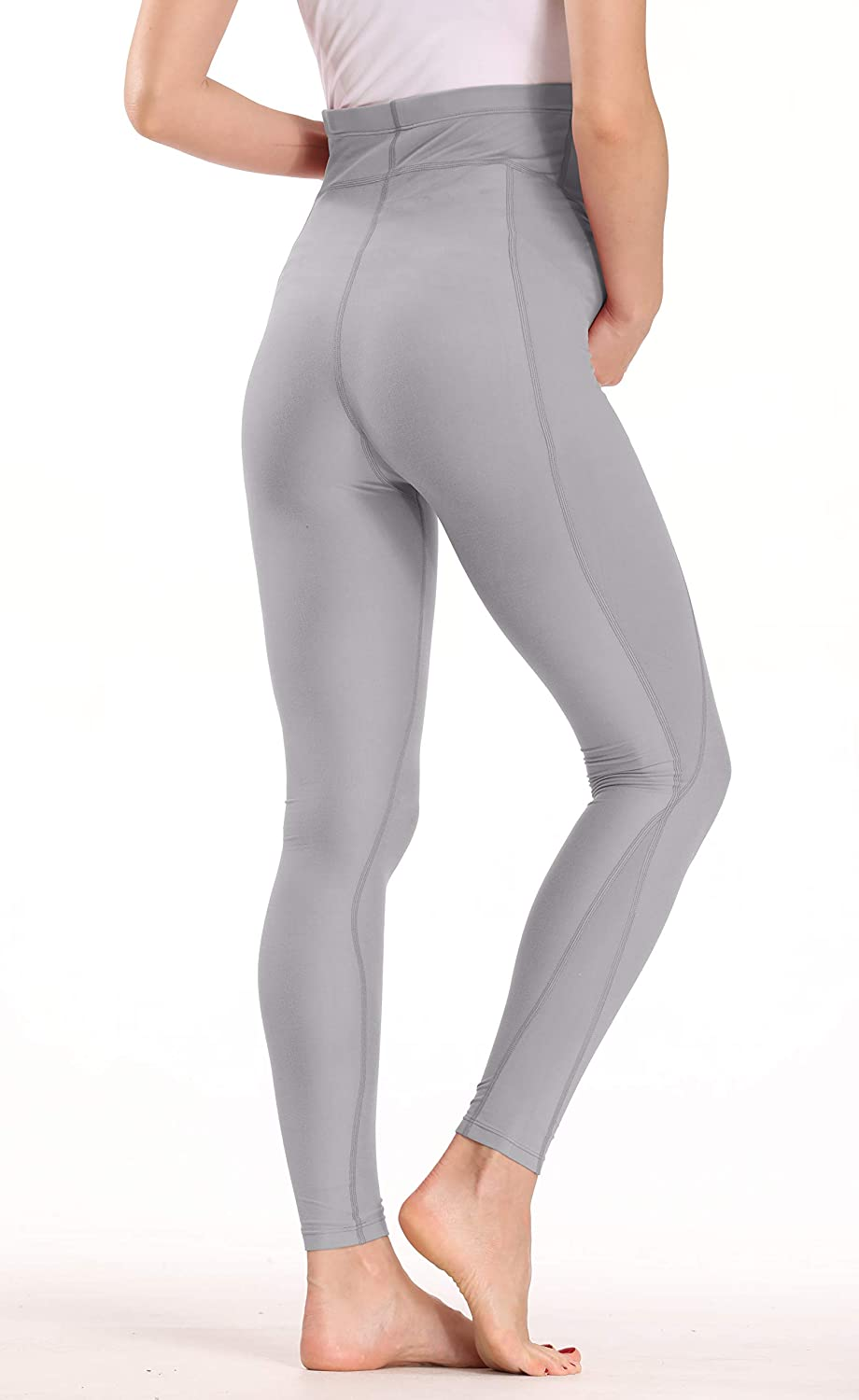 V VOCNI Over Bump Support Maternity Leggings with Pockets Non See-Through Workout Running Yoga Pants