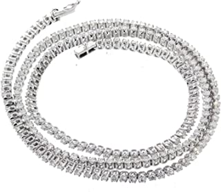 Diamond Chain Necklace Tennis Chain 10K White Gold 4.69ctw Diamond Necklace for Men or Women 22 Inch