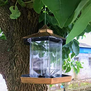 Wild Bird Feeders for Outside,Bird Feeders for Outdoors Hanging,Bird Seed for Outside Feeders,Hexagon Shaped with Roof Han...