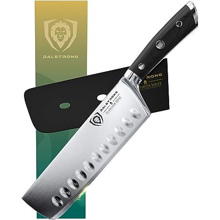 """Dalstrong Couteau à légumes asiatiques - série de gladiateurs - HC Allemand Acier NAKIRI - 7""""(180mm)"""