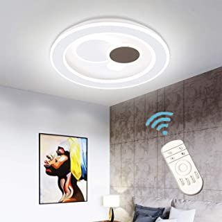 Ganeed Modern LED Ceiling Light,Dimmable Flush Mount Round Light Fixture with Remote (3000-6500K),LED Ceiling Lamp Chandel...