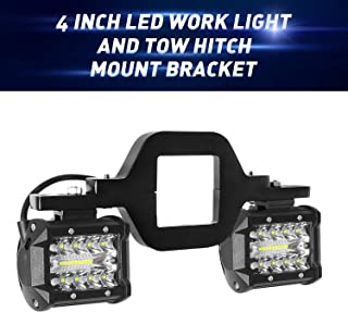 EBESTauto LED Work Light Pods, 4 Inch LED Light Bar with 2.5 Inch Towing Hitch Mount Brackets LED Bar for Truck Trailer SUV Pickup Fit Dual Led Off-Road Driving Light bar(FedEx,UPS)