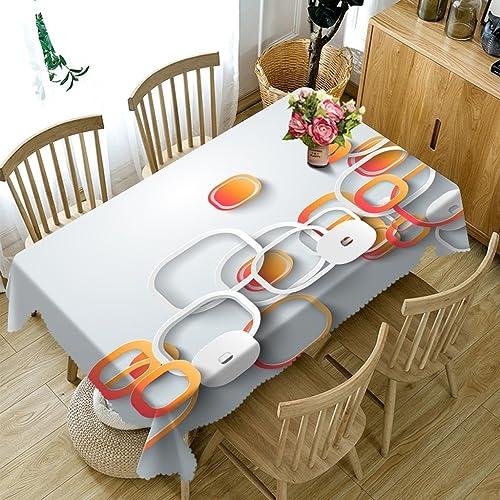 Qiao jin Tischdecke Rechteckige Tischdecken - 3D Landschaft Serie Tischdecke HD7 - Umweltfreundlich und geschmacklos - Digital Bedruckt Wasserdicht (Größe   Rectangular -178cmx274cm)