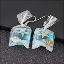 MIXIA Colorful Resin Starfish Goldfish Flower Bag Earrings for Women Anti Allergy Graceful Joker Funny Earring Water Pouch Jewelry