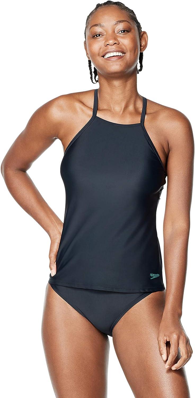 Speedo Women's Swimsuit Top Tankini Adjustable High Neck