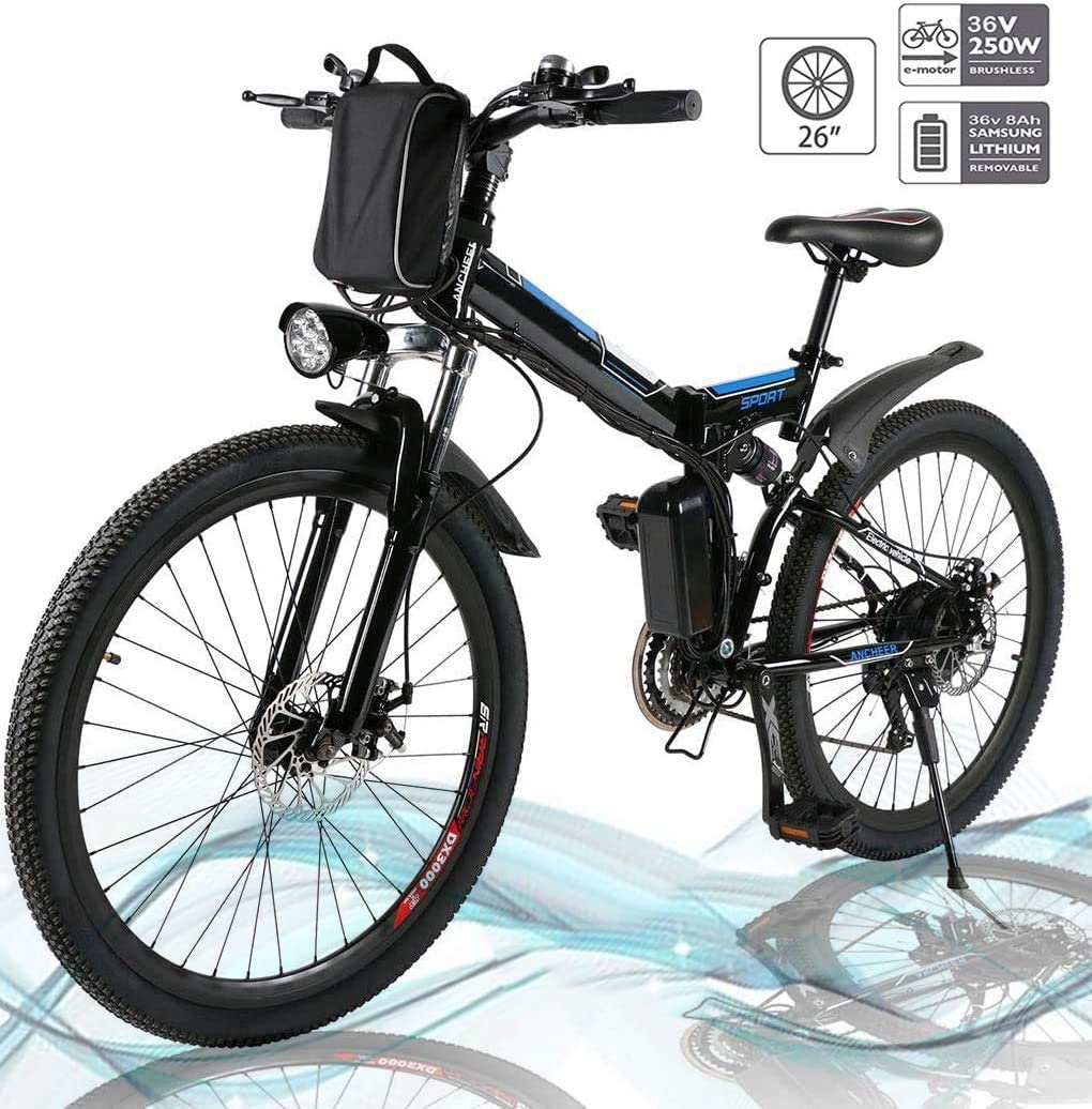 Kemanner 26 inch Electric Mountain Bike Lithium 8A Speed 36V online shopping 21 All stores are sold