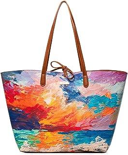 Desigual Bag Landscape Nimbus Capri Max Women Desigual, Women's Shoulder Bag, Blue (Azul Marea), 13x28x30 cm (B x H T)