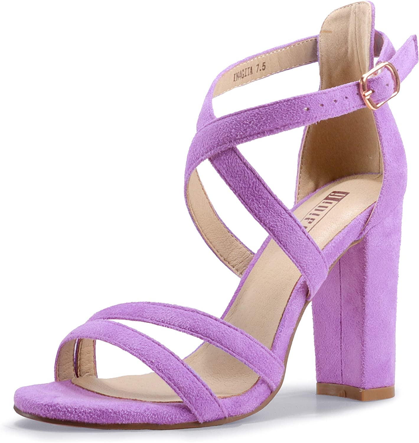 Sale Special Price IDIFU Women's Chunky Heel Sandal Strappy Max 72% OFF Open Ankle Toe Dr Strap