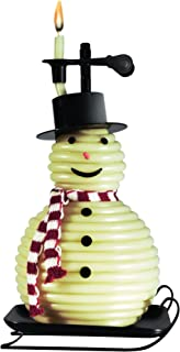 Candle by the Hour 100-Hour Snowman Candle, Eco-friendly Natural Beeswax with Cotton Wick