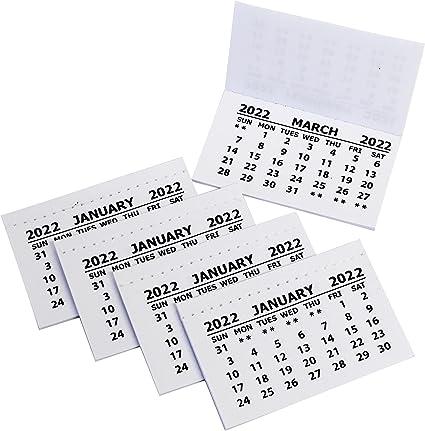 Mini Calendrier 2022 2022 Calendar Tabs Insert White Mini Calendar Tear Off Pads Month