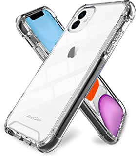 ProCase iPhone 11 Case Clear,  Hybrid Crystal Clear Back Cover Transparent Protective Case for iPhone 11 2019