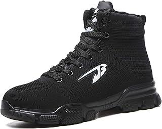 ORISATCO Steel Toe Boots for Mens Womens, Lightweight Comfortable Industrial Construction Slip Resistant Winter Work Safet...