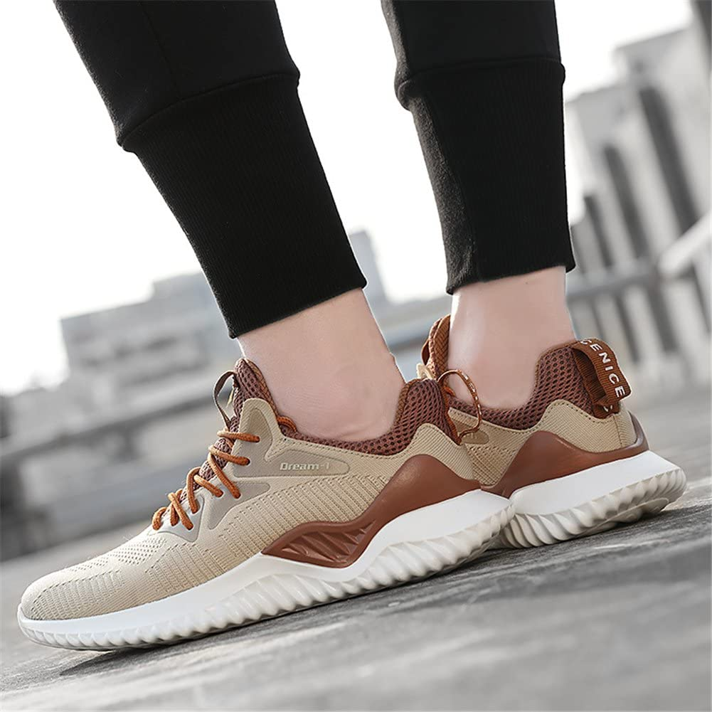 Chaussures de Course Running Sports Respirante Course Sneakers Hommes Femme Gym athlétique Outdoor Casual Running Confortable Léger 1810 Brown