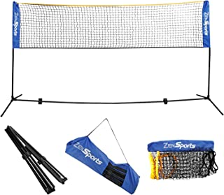 ZENY Portable Badminton Net Set for Soccer Tennis, Pickleball, Kids Volleyball Indoor Outdoor Court, Backyards,Beach Sports,Carrying Bag Included