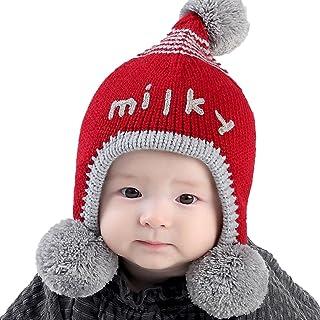 81508cb2f1d Perman Baby Girls Boys Toddler Winter Cute Knit Cap Warm Earflap Hat
