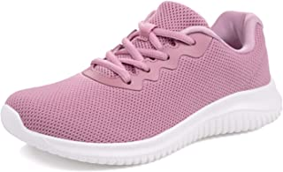 Akk Womens Lightweight Tennis Shoes - Comfort Fashion Sneaker Casual Lace Up Non Slip Athletic Shoes for Gym Running Work