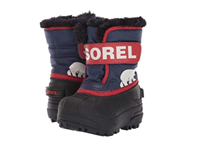 SOREL Kids Snow Commander (Toddler) (Nocturnal/Sail Red) Boys Shoes