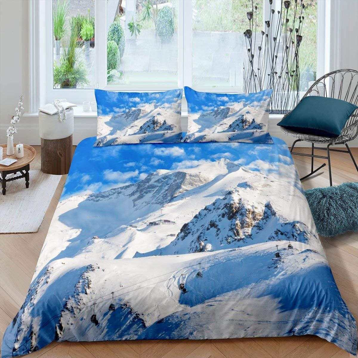 Erosebridal Snow Mountain 通常便なら送料無料 Comforter Twin ◆セール特価品◆ Cover Pea Size