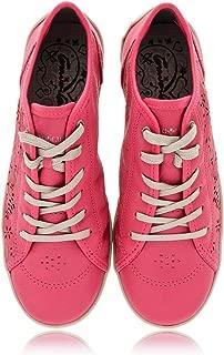 CRAVO & CANELA Cinna Fuchsia Cut-Out Leather Sneakers