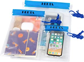 HEETA 3-Pack Clear Waterproof Dry Bag, Water Tight Cases Pouch Dry Bags for Camera Mobile Phone Maps, Kayaking Boating Doc...